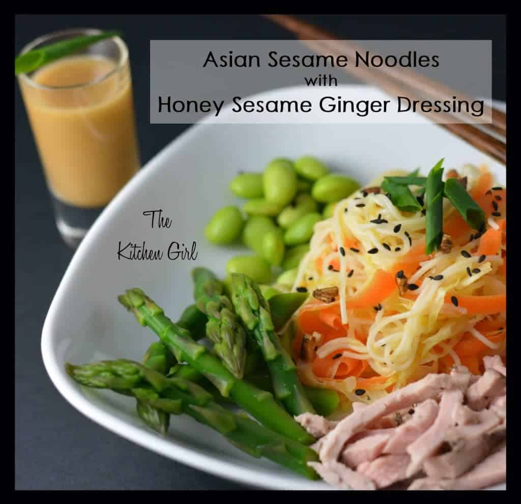 Asian sesame ginger noodles recipe