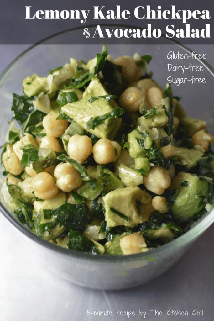 ... avocado, chickpea salad. Super nutritious summer salad. www