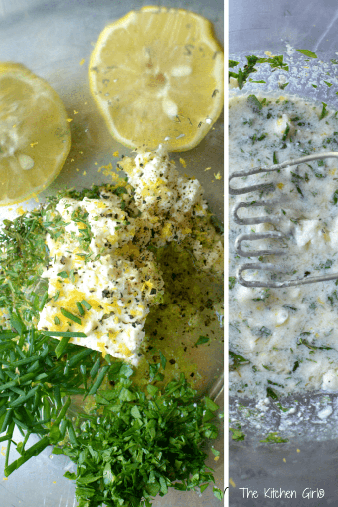 Here's the EASY Feta Dressing for my Grilled Zucchini Corn Salad. Yum's the word! Gluten-free, vegetarian. thekitchengirl.com
