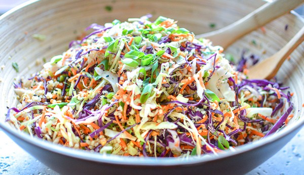 Asian Slaw Quinoa Salad With Sesame Ginger Asian Salad Dressing