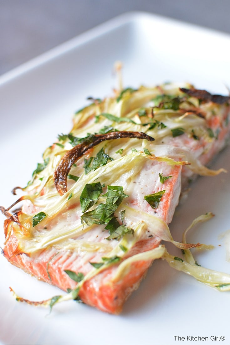 Broiled Fennel Salmon: For Weddings...or Weeknights - The Kitchen Girl