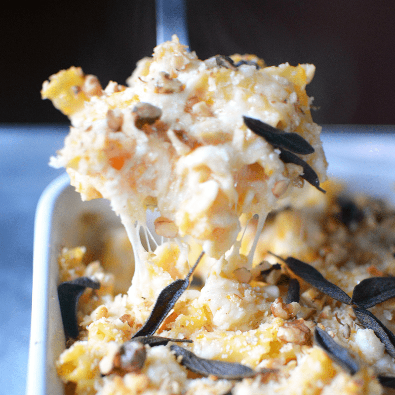 Baked Butternut Squash Mac and Cheese