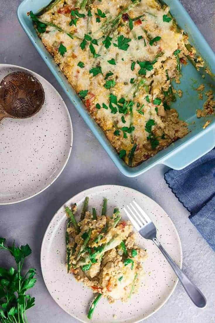 Cajun Turkey Casserole (Low Carb + Gluten-Free)