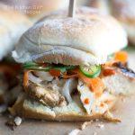 close up banh mi sandwich slider