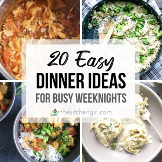 4 easy dinners with title text overlay