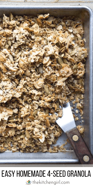 Easy Homemade Granola (with 4 seeds