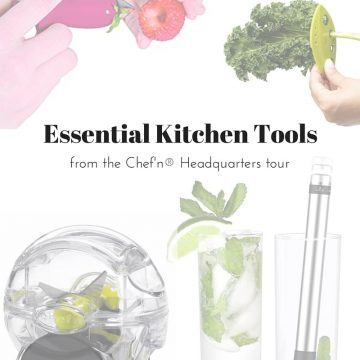 Check out your new favorite tools to ease the pain of everyday kitchen tasks. I toured the Chef'n® housewares company, met the team and the founder…excellent company! thekitchengirl.com