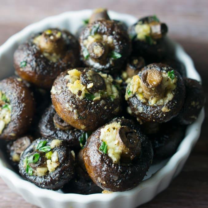 Garlicky Oven Roasted Mushrooms