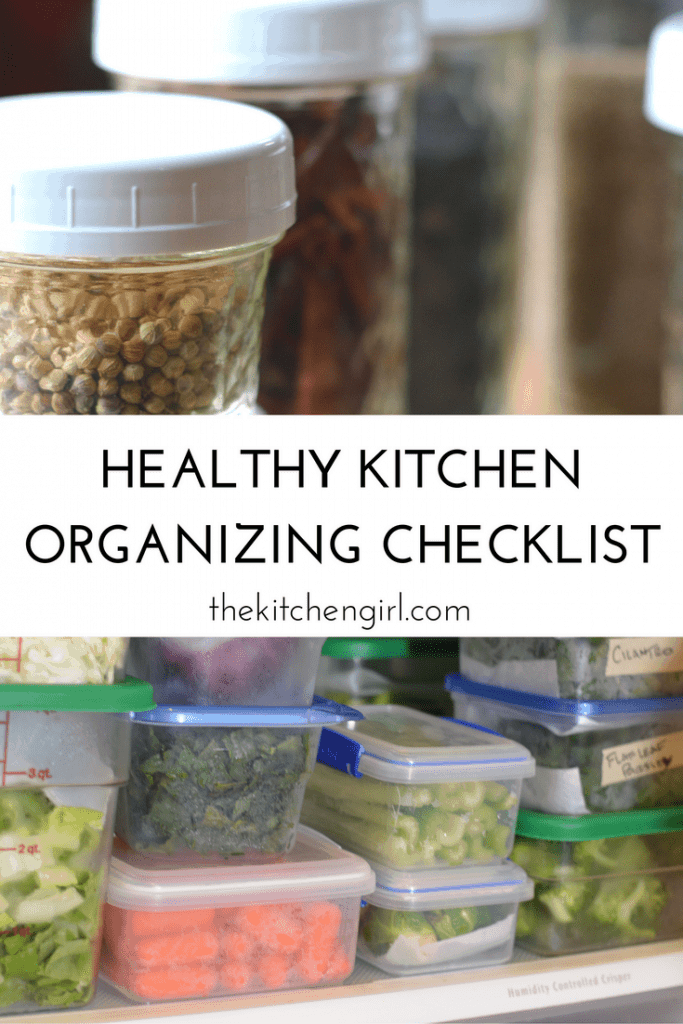 Storage solutions and clutter control can help improve cooking and eating habits, and promote smarter spending. Get the Healthy Kitchen Organizing Checklist at thekitchengirl.com