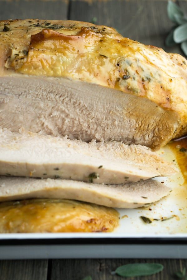 Herb Roasted Turkey Breast How To Cook A Turkey Breast Bone In