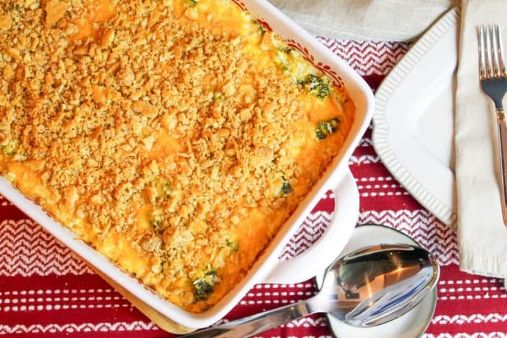 Cheesy Broccoli, Turkey, and Rice Casserole