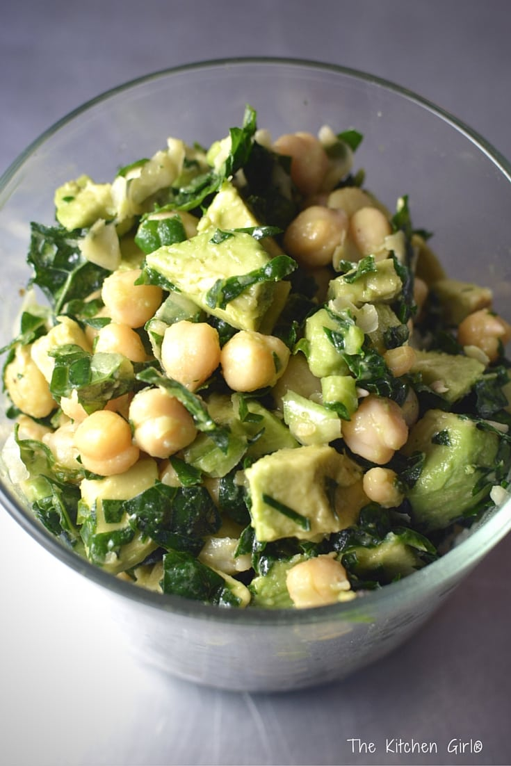 Tahini Avocado Chickpea Salad Recipe — Dishmaps