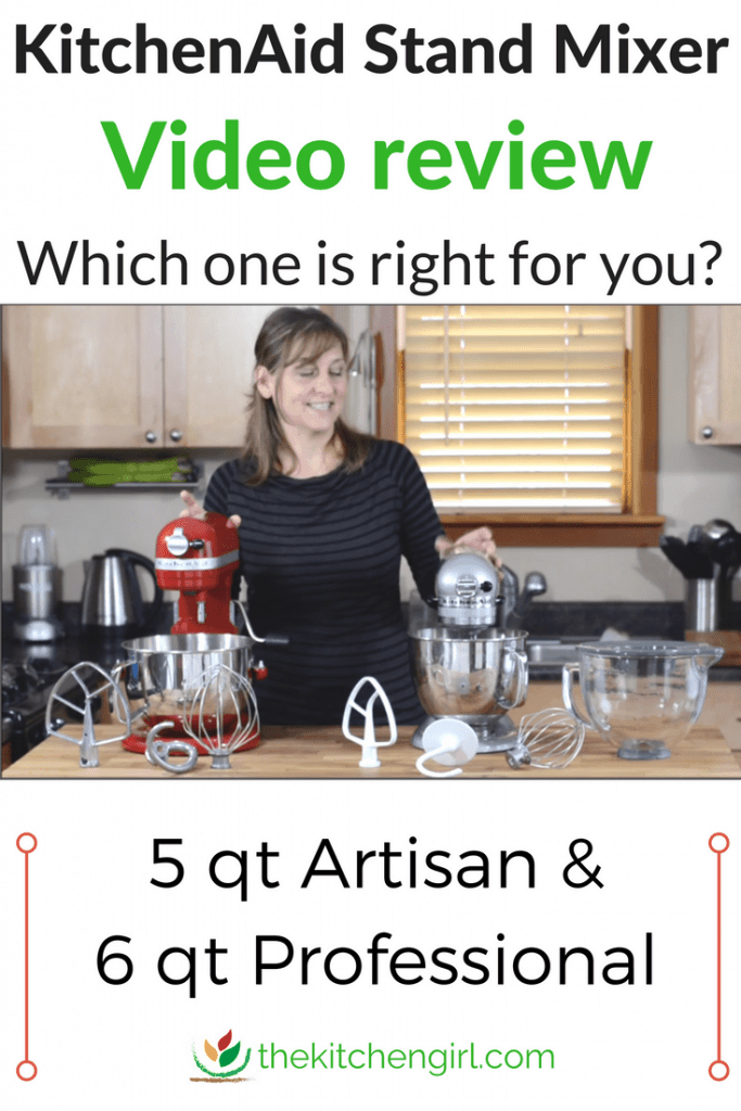 Video review of KitchenAid Artisan Stand Mixer vs KitchenAid Professional 600 to help you compare model features. #standmixer #kitchenaid #artisan #pro600