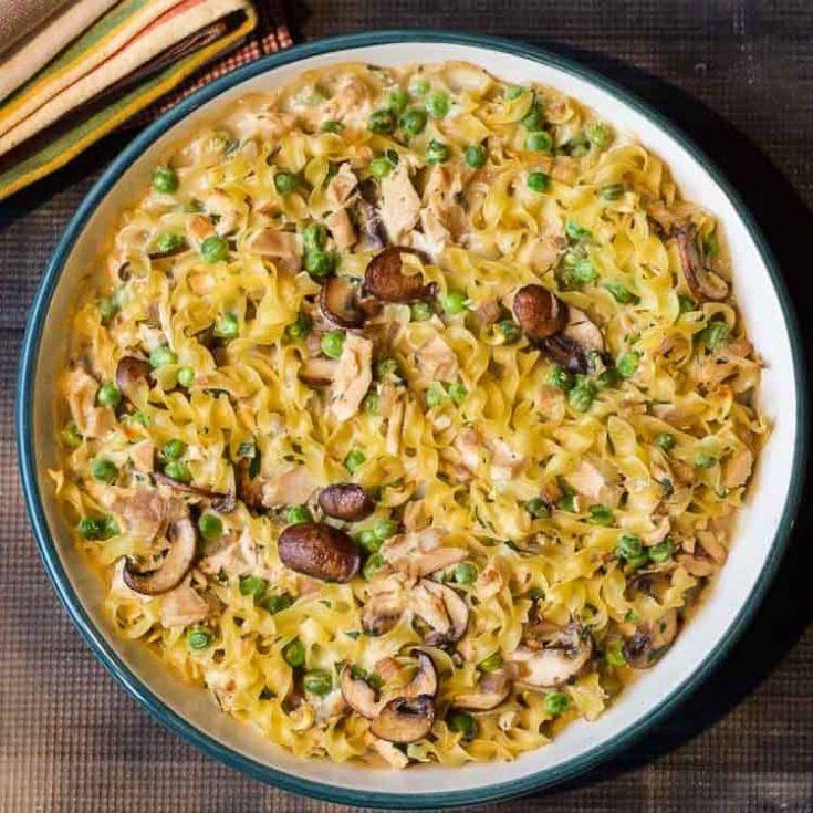 Leftover Turkey Casserole With Fresh Peas & Mushrooms