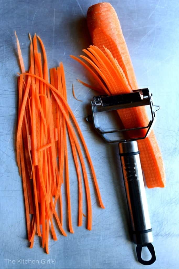 Titan peeler does julienne cuts for you...effortlessly! thektichengirl.com