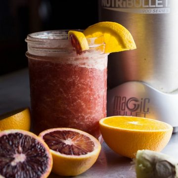 Stay hydrated when fighting a cold with this nutrient-loaded, Orange Blast Hydration Slushie made with natural ingredients in the NutriBullet Pro 900. Kids love it! thekitchengirl.com