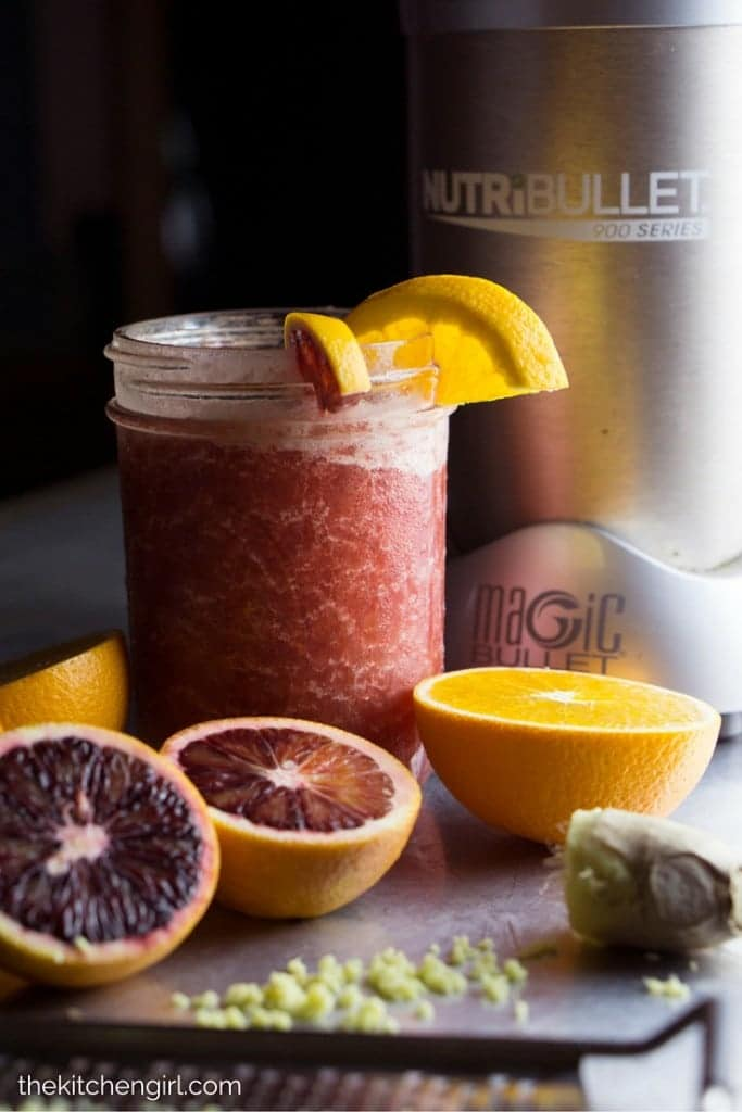 Orange Blast Hydration Slushie helps you hydrate when fighting a cold. Made with natural ingredients in the NutriBullet Pro 900. Kids love it too! thekitchengirl.com