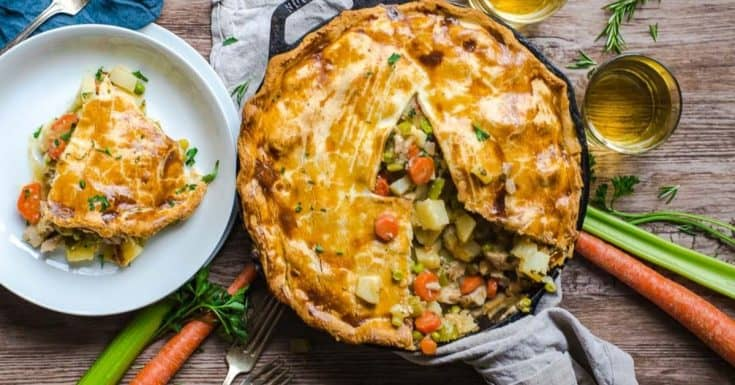 Leftover Turkey Skillet Pot Pie