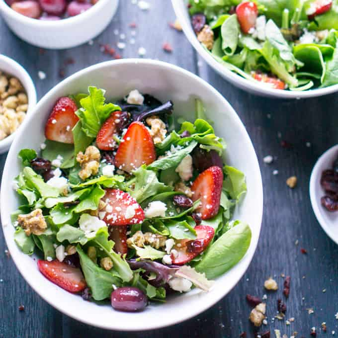 Strawberry Salad Spring Mix Salad The Kitchen Girl