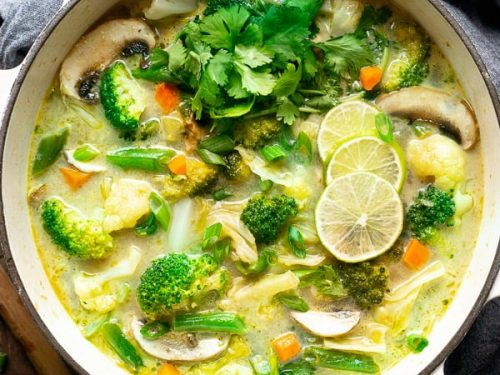 Thai Coconut Soup Coconut Curry Soup The Kitchen Girl