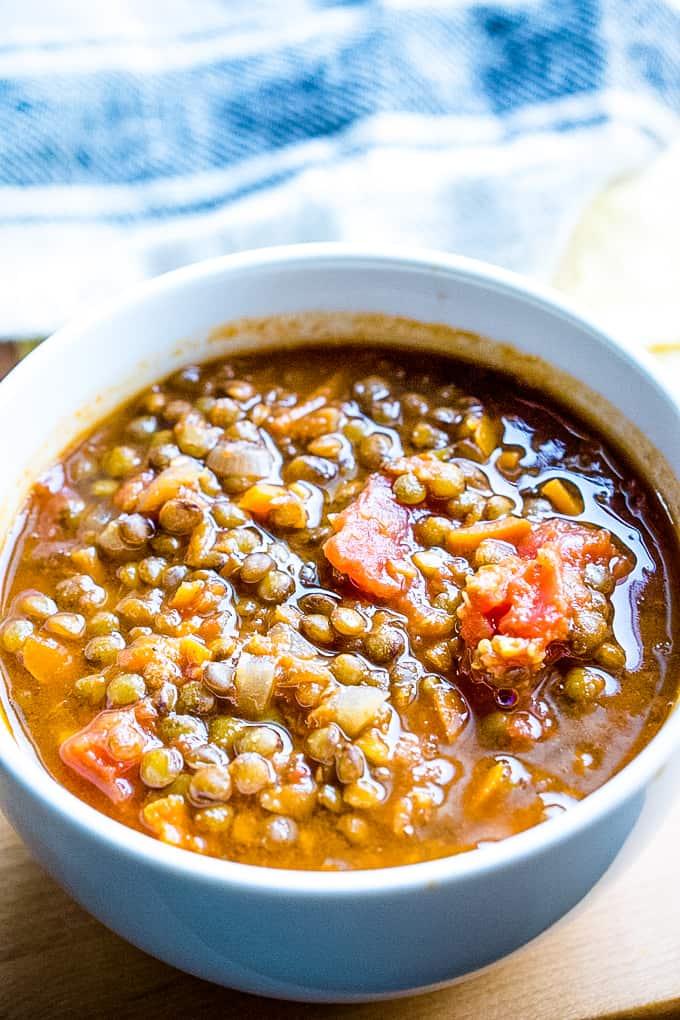 Vegetarian Lentil Chili for Instant Pot or Stove[V + GF]
