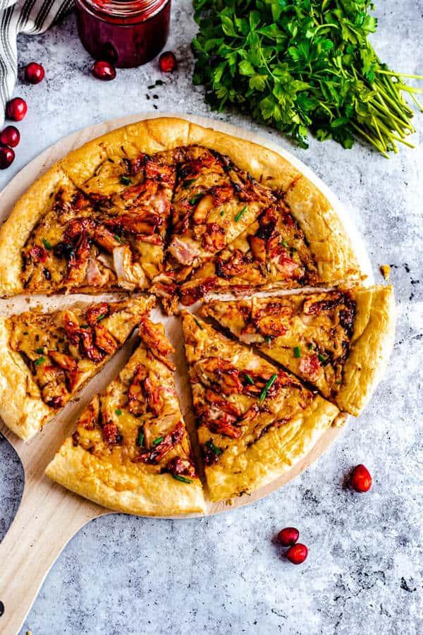 Cranberry BBQ Turkey Pizza ~ Recipe