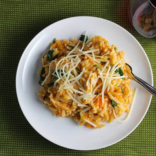 Orzo with Leftover Turkey and Sweet Potatoes #SundaySupper