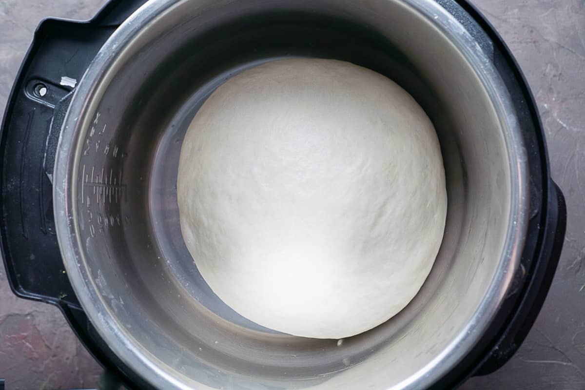 bread dough proofing in the Instant Pot