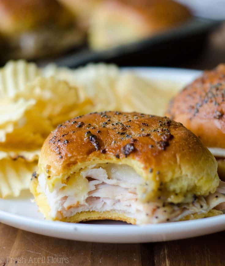 Baked Turkey & Cheese Sliders