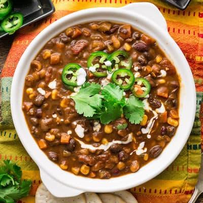 3 Bean Vegan Chili for Instant Pot, Stove, or Crockpot [V + GF]